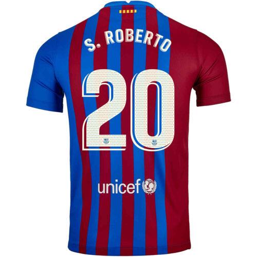 2021/22 Kids Nike Sergi Roberto Barcelona Home Jersey