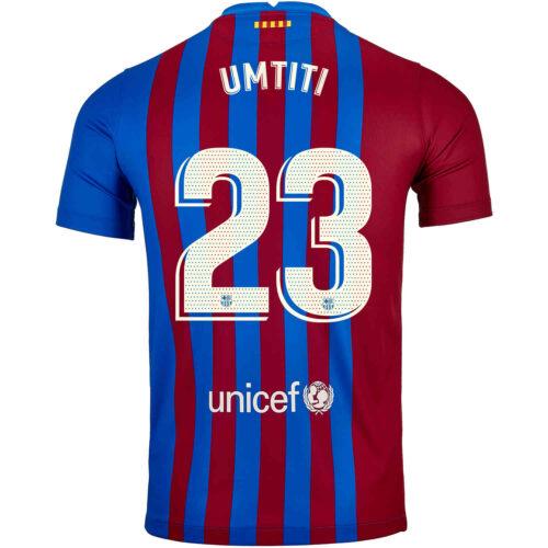 2021/22 Kids Nike Samuel Umtiti Barcelona Home Jersey