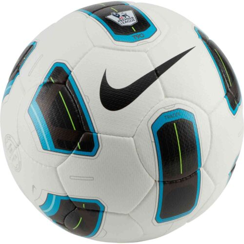 Nike Premier League T90 Tracer Official Match Soccer Ball – White & Blue with Black