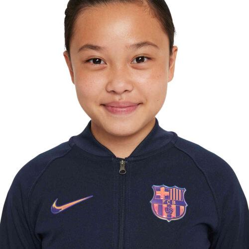 Kids Nike Barcelona I96 Anthem Lifestyle Jacket – Obsidian/Obsidian/Irridescent