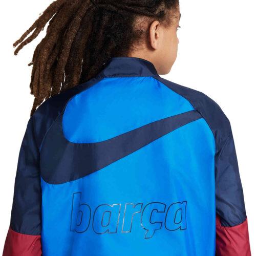 Kids Nike Barcelona Repel AWF Lifestyle Jacket – Soar/Noble Red/Obsidian/Pale Ivory