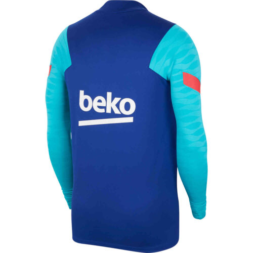 Nike Barcelona Dry Strike Drill Top – Deep Royal Blue/Oracle Aqua/Light Fusion Red