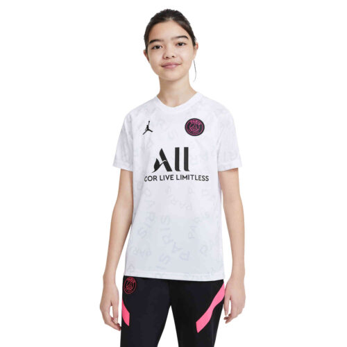 Kids Nike PSG Pre-Match Top – White/Black