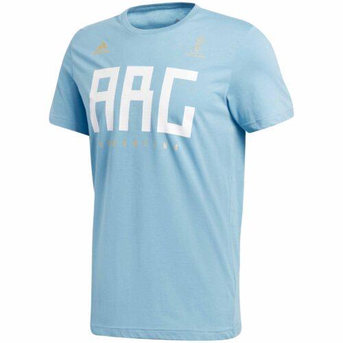 adidas Argentina Tee – Clear Blue