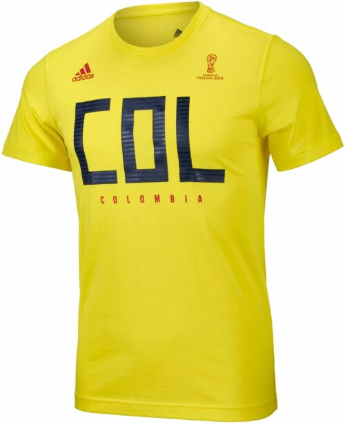 adidas Colombia Tee – Bright Yellow