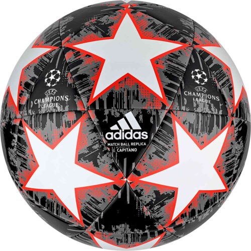 adidas Finale 18 Capitano Soccer Ball – White/Black/Gray 5/Solar Red
