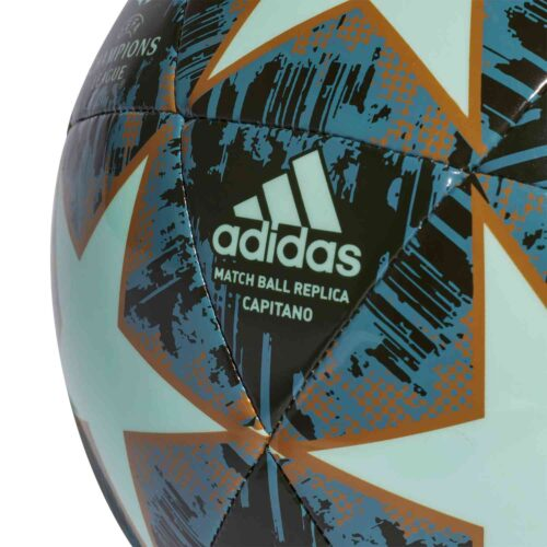 adidas Finale 18 Capitano Soccer Ball – Clear Mint/Night Cargo/Raw Desert/Raw Green
