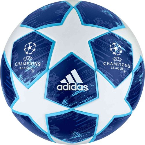 adidas Finale 18 UCL Top Trainer Soccer Ball – White/Football Blue
