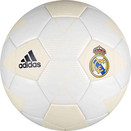 adidas Real Madrid Soccer Ball – Cream White/Grey One
