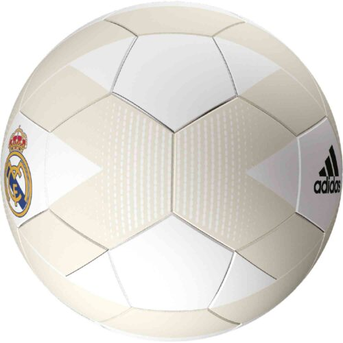 adidas Real Madrid Soccer Ball – Cream White/Grey One