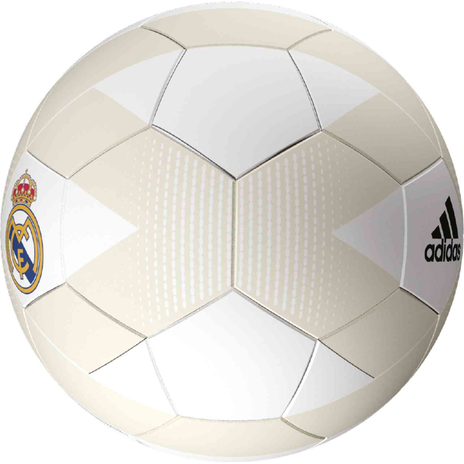 ce17b00d7 adidas Real Madrid Soccer Ball - Cream White Grey One - SoccerPro