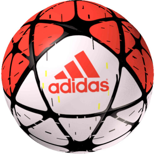 adidas Glider Soccer Ball – White/Solar Red