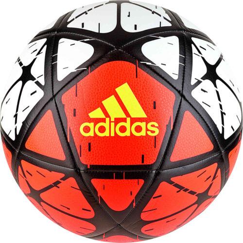 adidas Glider Soccer Ball – White/Solar Red