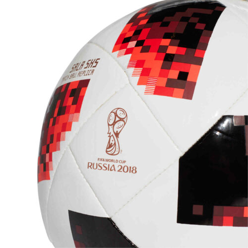 adidas World Cup Sala 5×5 Futsal Ball – White/Solar Red/Black