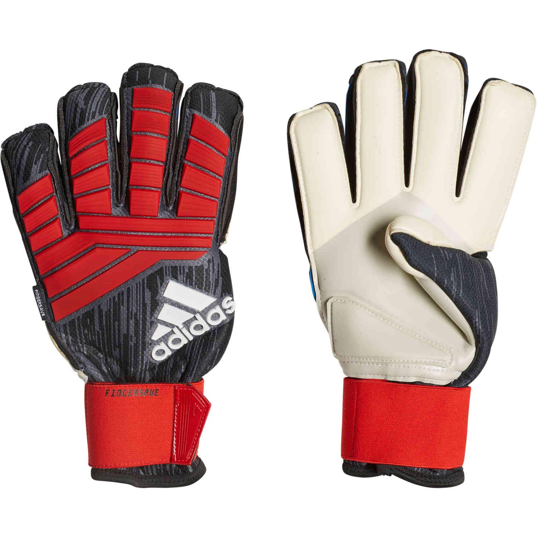245f2f23e2 adidas Predator Pro FS Goalkeeper Gloves - Black/Red - SoccerPro