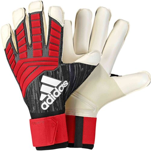 adidas Predator Fingertip Goalkeeper Gloves – Black/Red