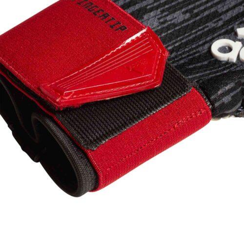 adidas Predator Fingertip Goalkeeper Gloves – Black/Red