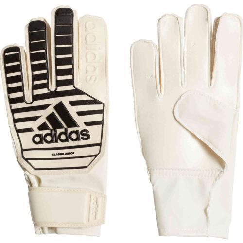 adidas Classic Goalkeeper Gloves – Youth – White/Black