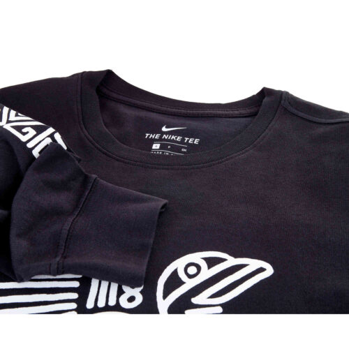 Nike Club America 3rd L/S Hook Tee – Black