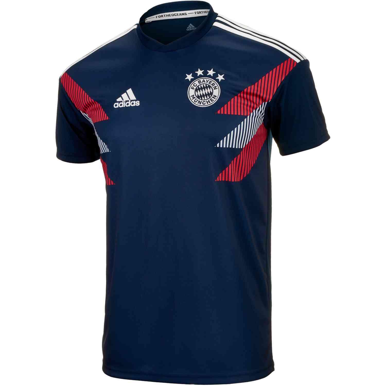 cheaper d4841 8cc77 adidas Bayern Munich Home Pre Match Jersey 2018-19