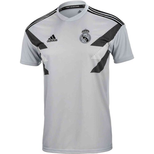 adidas Real Madrid Home Pre Match Jersey – Stone/Black
