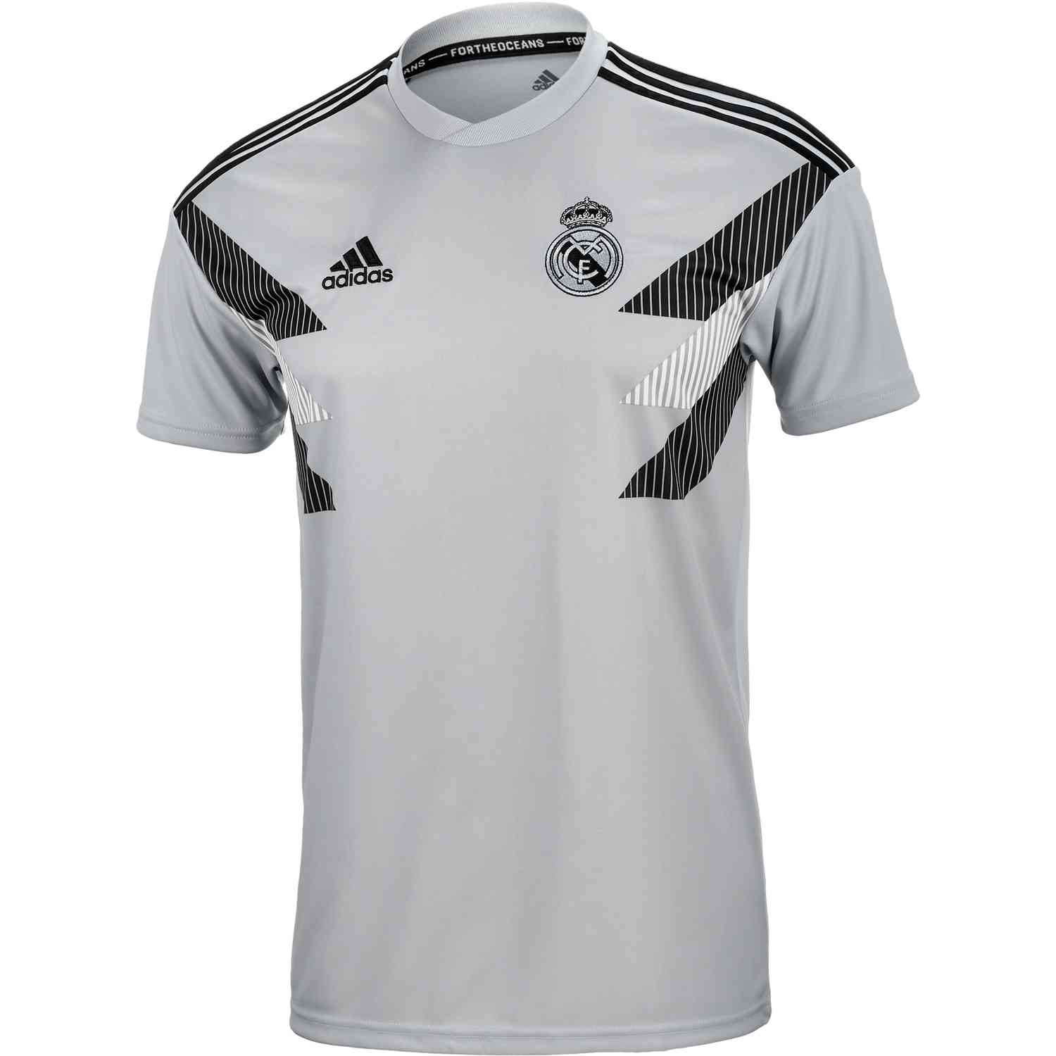 1447bb5fdc1b adidas Real Madrid Home Pre Match Jersey - Stone Black - SoccerPro