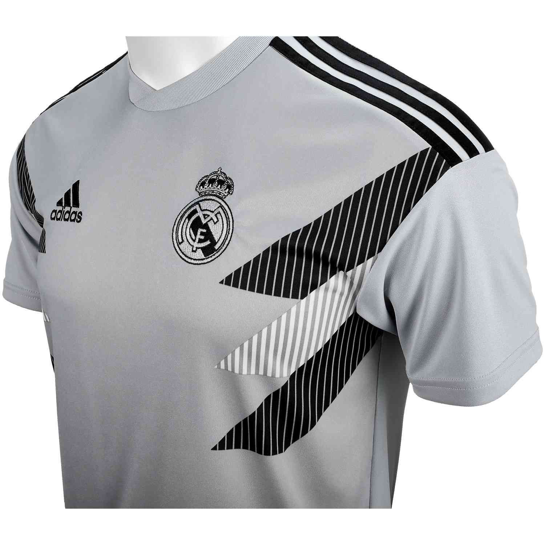 adidas Real Madrid Home Pre Match Jersey - Stone/Black - SoccerPro