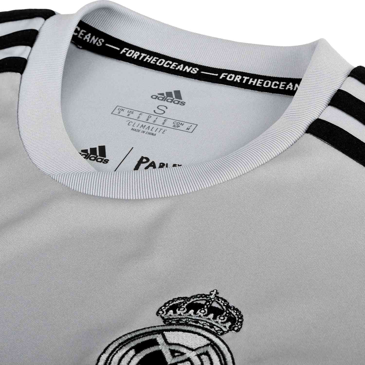adidas Real Madrid Home Pre Match Jersey StoneBlack SoccerPro