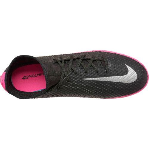Nike Phantom GT DF Academy FG – Black & Metallic Silver with Pink Blast