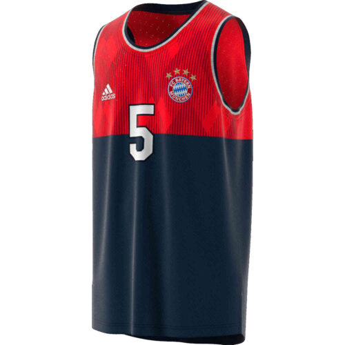adidas Bayern Munich SSP Tank – Collegiate Navy/FCB True Red
