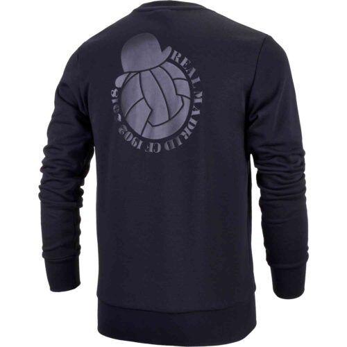 adidas Real Madrid Graphic Sweat Top – Black