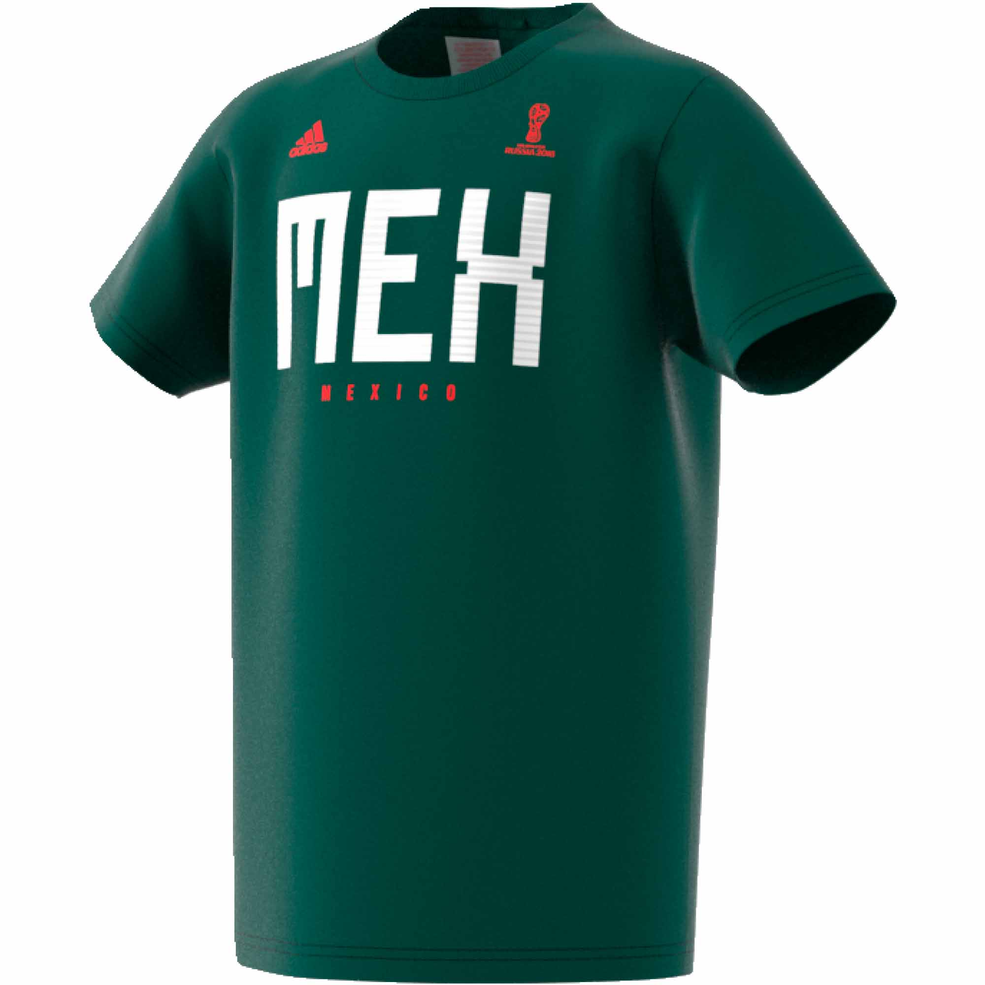 f865f40f7 adidas Mexico Tee - Youth - Collegiate Green - SoccerPro