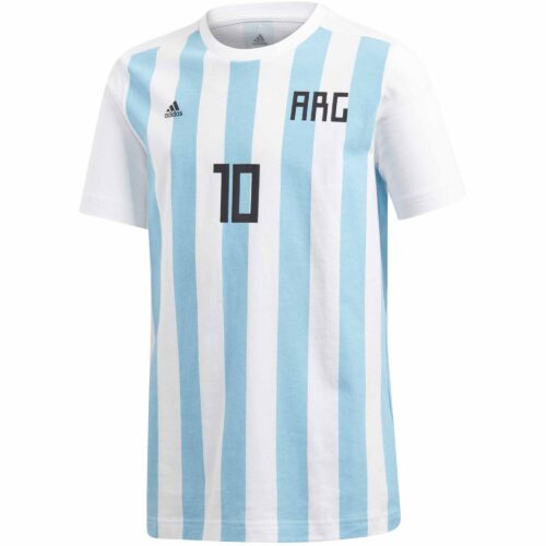 adidas Messi Tee – Youth – White