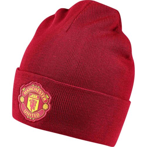 adidas Manchester United Beanie – Real Red/Black