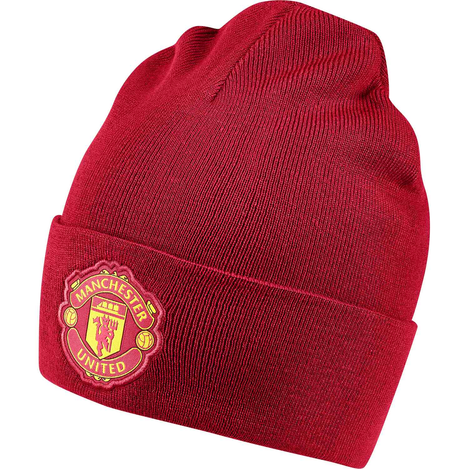 880551a1e4b adidas Manchester United Beanie - Real Red Black - SoccerPro