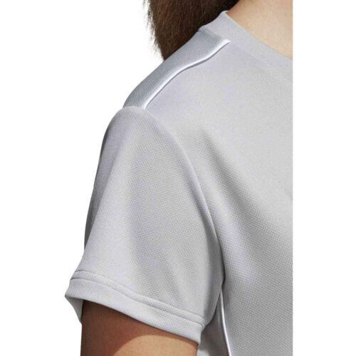 Womens adidas Core 18 Training Jersey – Stone/White