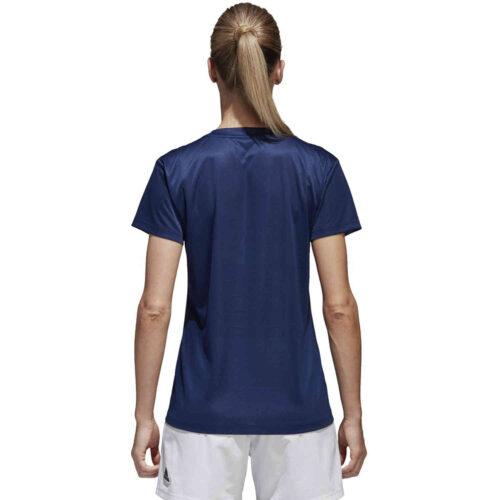 Womens adidas Core 18 Training Jersey – Dark Blue/White