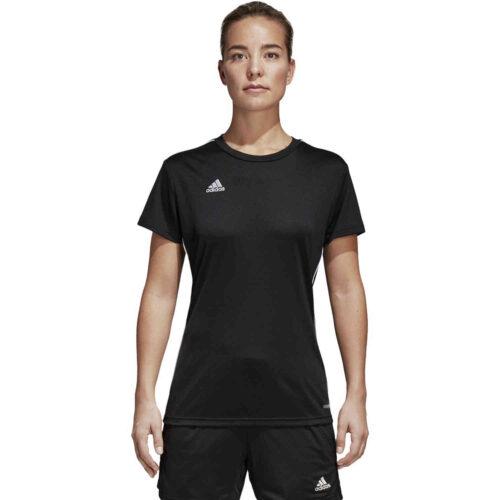 Womens adidas Core 18 Training Jersey – Black/White