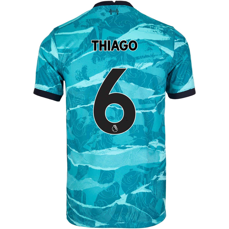 2020/21 Kids Nike Thiago Liverpool Away Jersey - SoccerPro
