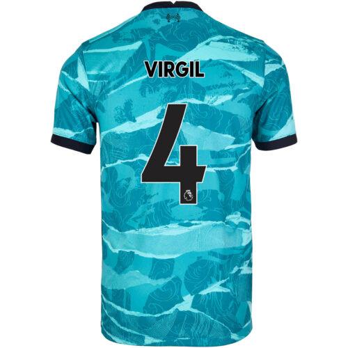 2020/21 Kids Nike Virgil van Dijk Liverpool Away Jersey