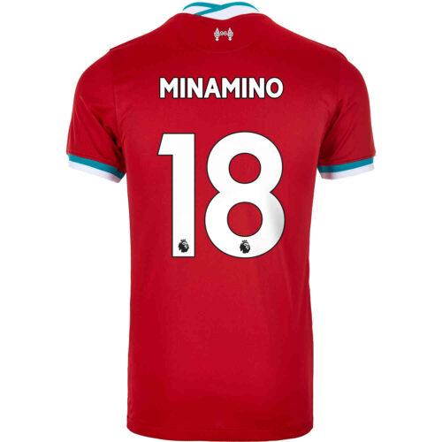 2020/21 Kids Nike Takumi Minamino Liverpool Home Jersey