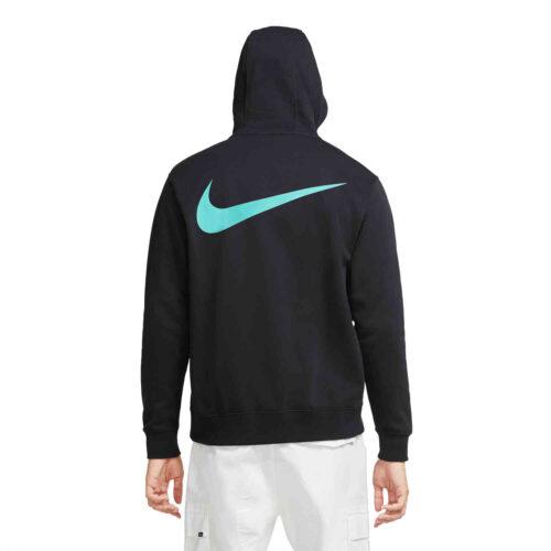 Nike Liverpool Pullover Hoodie – Black/Hyper Turq