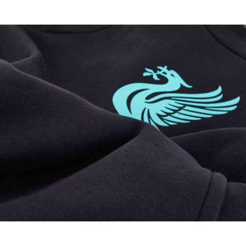 Kids Nike Liverpool Pullover Fleece Hoodie – Black/Hyper Turq