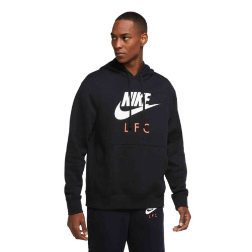 Nike Liverpool Pullover Hoodie – Black/White