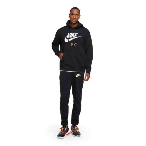 Nike Liverpool Pullover Hoodie – Black/White