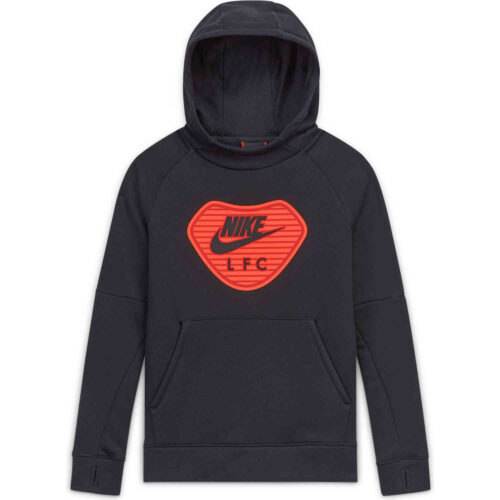 Kids Nike Liverpool Pullover Fleece Hoodie – Black/Black