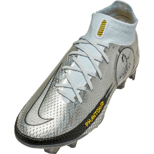 Nike Phantom GT DF Elite FG – Pure Platinum & Metallic Silver with Black