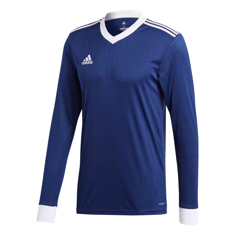 adidas Tabela 18 L/S Jersey - Dark Blue/White - SoccerPro