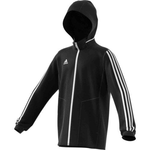 Kids adidas Tiro 19 Allweather Jacket – Black/White