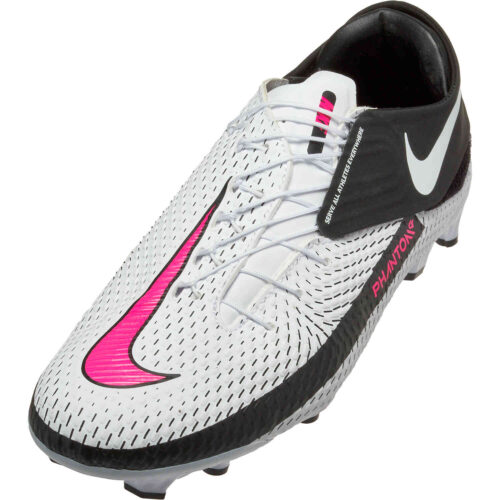 Nike Flyease Phantom GT Academy FG – White & Pink Blast with Black